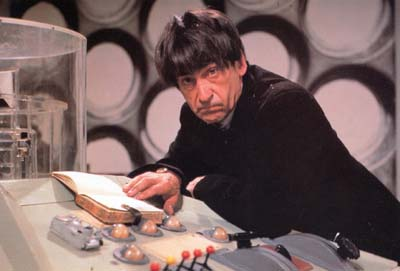 Patrick Troughton at the console